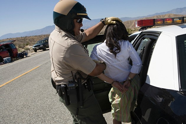 Girl Being Arrested