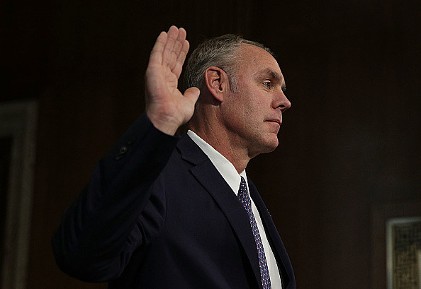 Confirmation Hearing Held For Ryan Zinke To Become Interior Secretary Under Trump