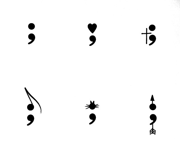 6 choices for Semicolon Tattoo Day